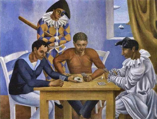 Gino Severini - i giocatori di carte